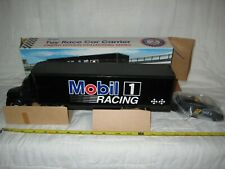 MIB 1990's Mobil 1 Toy Race Car Carrier with Working Lights in Original Box