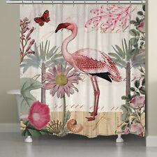 Laurel Casa botánico Flamingo Cortina de ducha