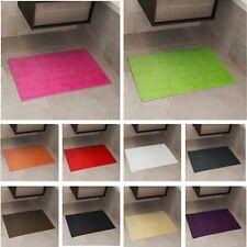 BATH MAT 100% COTTON MODERN BATHROOM TOWEL RUG  BATH MATT 50cm x 80cm THICK