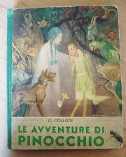 1951 LE AVVENTURE DI PINOCCHIO CARLO COLLODI SEI ILLUSTRAZIONI G.GALIZZI FIABA