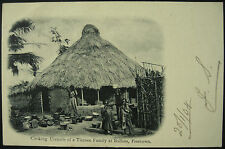 1904 Timnee Family & Hut Bullom Sierra Leone RP Postcard Posted Freetown