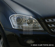 Mercedes ML 2005-2009 Headlight Head Light Chrome Trim Set (trims only)