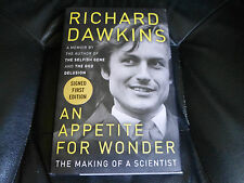 RICHARD DAWKINS SIGNED - AN APPETITE FOR WONDER - FIRST PRINTING HARDCOVER NEW