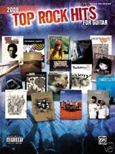 2008 TOP ROCK HITS AUTHENTIC GUITAR TAB & VOICE MUSIC BOOK NEW
