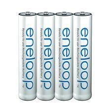 4x Panasonic eneloop Rechargeable AAA Batteries NiMH 800mAh (min. 750mAh) BK-4MC