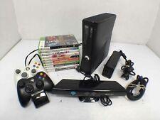 Microsoft Xbox 360 S 1439 4Gb Black Video Game Console w/ 10 Games