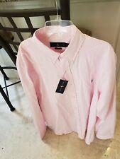 RALPH LAUREN MEN'S PINK WHITE STRIPE CLASSIC FIT DRESS SHIRT XL X-LARGE $89 NWT