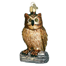 """""""wise Old Owl"""" (16019) Old World Christmas Glass Ornament w/OWC Box"""