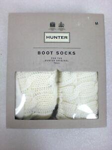 Womens Hunter Original Tall Knee High Boot Socks NATURAL WHITE  Size Medium 5-7