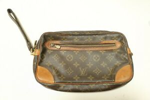 Authentic Louis Vuitton  Monogram Marly Dragonne GM Clutch Bag #7561