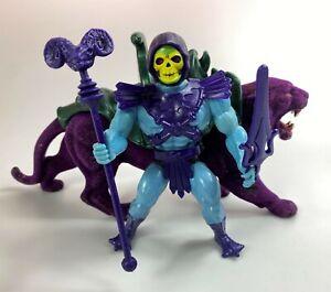 Skeletor & Panthor Vintage MOTU Figures Set Complete 1984 Mattel He-Man 80s
