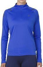 Asics Icon Half Zip Long Sleeve Womens Running Top - Blue