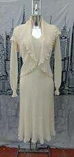 Vintage  Cream Knitted Dress and Bolero/ Spanish