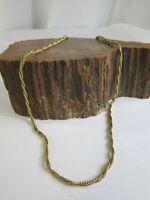 """Vintage 12K Gold Filled Twisted Rope Necklace 19"""" 3 mm 11 gr RP23"""