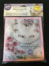 1998 Wilton Stepsaving Rose Bouquet Flower Cutter Set New in Bag NOS