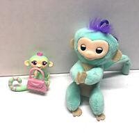 WowWee Fingerlings Monkey Plush Hugger Backpack Clip W/ Mini Blind Bag Monkey