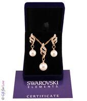 Parure donna oro Swarovski Elements originale G4Love strass perle collana regalo