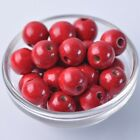 40pcs 16mm Red Round Natural Wood Loose Spacer Beads Wholesale Bulk Lot