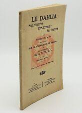 Le Dahlia histoire, progrès, culture, Rivoire. Fécondation du Dahlia, R. Gérard
