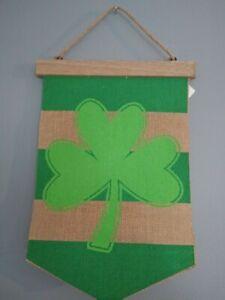 Ashland Burlap & Wood St. Patricks Day Banner