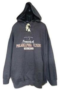 New Philadelphia Flyers Mens Size 5XLarge 5XL Gray Majestic Hoodie