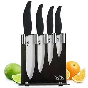 Ceramic Knife Set with Knives Holder - 4 Piece Knife Set