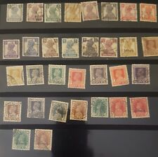 Nice collection of 32 fine diff.Indian K G VI used stamps British India 1937