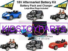 18V Volt Conversion Kit UPGRADE for 12V KID TRAX Cars/Trucks (Battery & Charger)