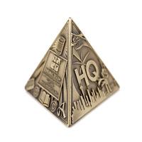 3D Trifecta Geocoin- Antique Bronze Geocaching Pyramide 3D Coin Trackable