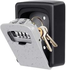New listing Key Lock Box Wall Mounted, 4 Digit Combination Lock Box House Key Weatherproof