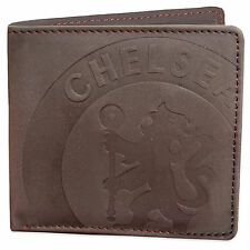 Chelsea FC Official Football Gift Faux Suede Wallet Brown