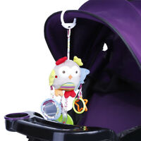 Soft Infant Plush Toys Cute Animals Rattle Baby Bed Stroller Hanging Doll
