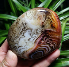 221g Beautiful Stripe Agate Crystal Healing From Madagascar D101