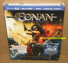 Conan the Barbarian 3D New Sealed (Blu-ray/DVD, 2011, 2-Disc Set, 3D/2D)