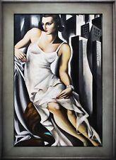 Tamara de Lempicka -Portrait der Madame Allan Bott-Ölgemälde Handgemalt 112x82cm