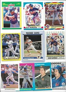 Kevin McReynolds Mets Lot of (10) Different w/ 1984 Fleer Rookie #307 Near Mint