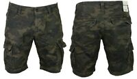 DML Mens Summer Cargo Shorts Combat Camo Army Casual 3/4 Pants Waist Size 28-38