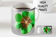 Good Luck Four Leaf Clover Lucky Charm Ceramic MUG