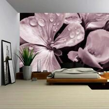 3D Flower with Raindrops TV Background Self adhesive Wallpaper Bedroom Decals