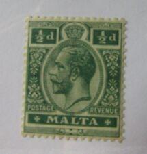 1921 Malta SC #67 KING GEORGE V  MH stamp