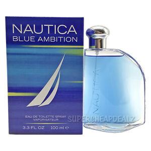 Nautica Blue Ambition for Men 3.3 oz EDT Spray NIB Sealed AUTHENTIC