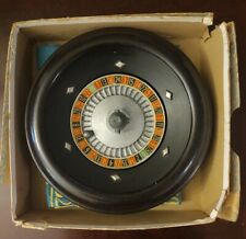 Vintage Rottgames Roulette Wheel With Original Steel Ball, Gambling Felt And Box
