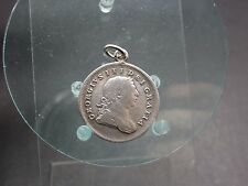 Silber Anhänger Bank Token 10 Pence 1805 Georg III Irland geputzt (41216)