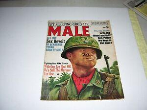 MALE Magazine, June 1966, Pulp, Sex, Terror, Adventure, WWII