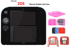 BLACK -Silicone Soft RUBBER BUMPER Gel Skin Case Cover For Nintendo 2DS Game