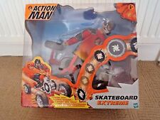 VINTAGE 1999 ACTION MAN SKATEBOARD EXTREME WITH DISCS & ORIGINAL BOX