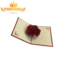 New 3D Pop Up ROSE Love Greeting Card Wedding Anniversary Gift Propose, USA