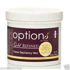 Options by Hive Hair Removal Tea Tree Gold Refined Creme Depilitory Hot Wax 425g
