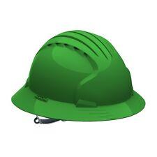 JSP Hard Hat Full Brim with 6 Point Slip Ratchet Suspension, Green