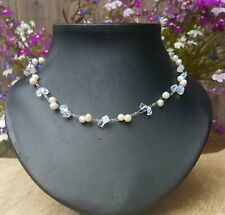 *Freedom Tree* Moonstone & Real Fresh Water Pearl Gemstone Necklace Hand Made